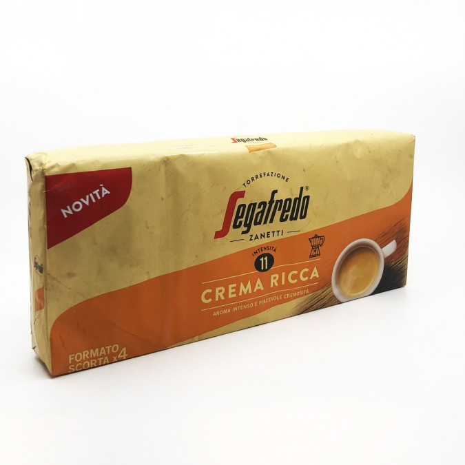Segafredo Crema Ricca őrölt kávé 4x225g